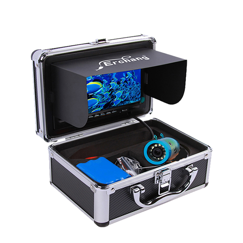 Erchang Fish Finder Underwater Fishing Camera 7 Inch 1000TVL Waterproof Video Underwater Camera 12 PCS Infrared