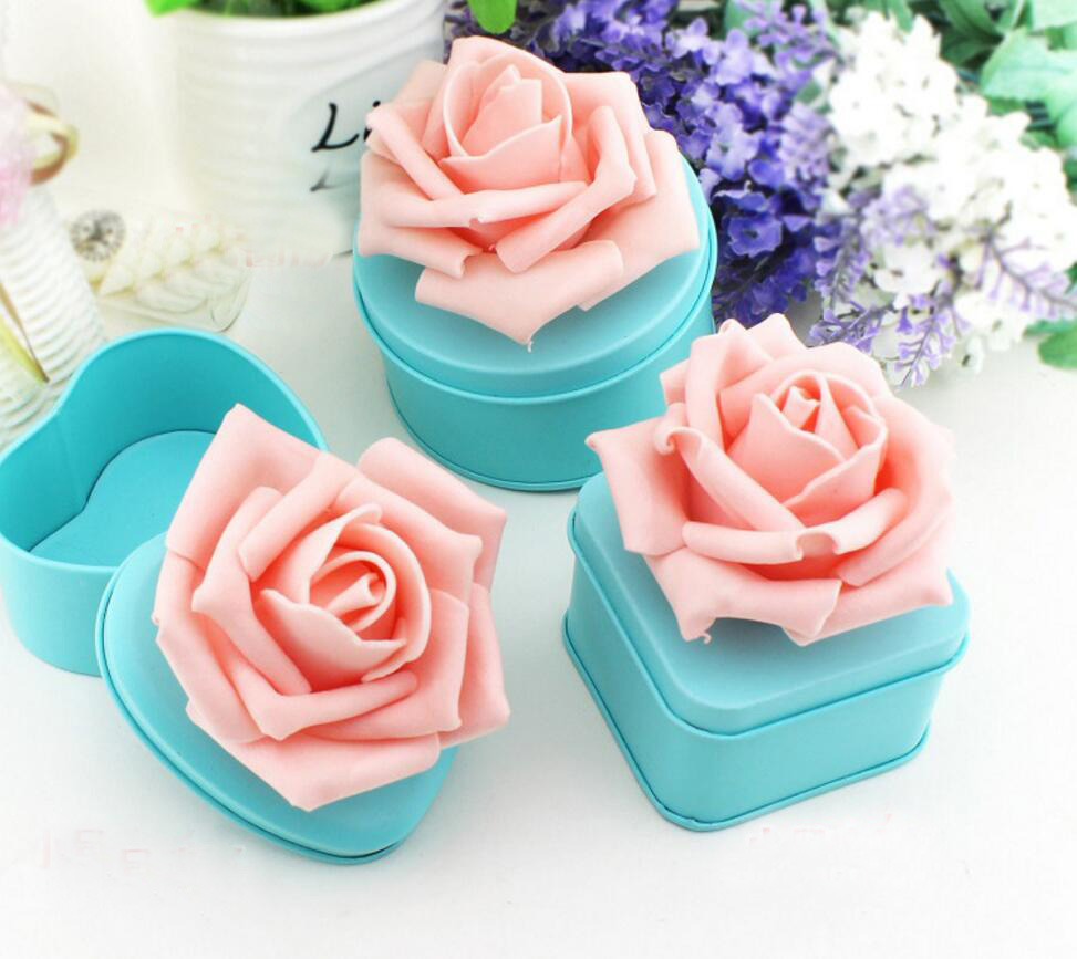 10pcs Sky Blue PE Rose Flower Candy Chocolate Spte Box For Wedding Party Birthday Baby Shower Favors Gifts ...