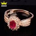 Anillo de Rubíes Natural gema roja Auténtica plata de ley 925 piedra Preciosa mujer anillos de joyería fina real noble