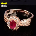 Natural Ruby ring red gem Genuine 925 sterling silver Precious stone woman fine jewelry rings noble royal