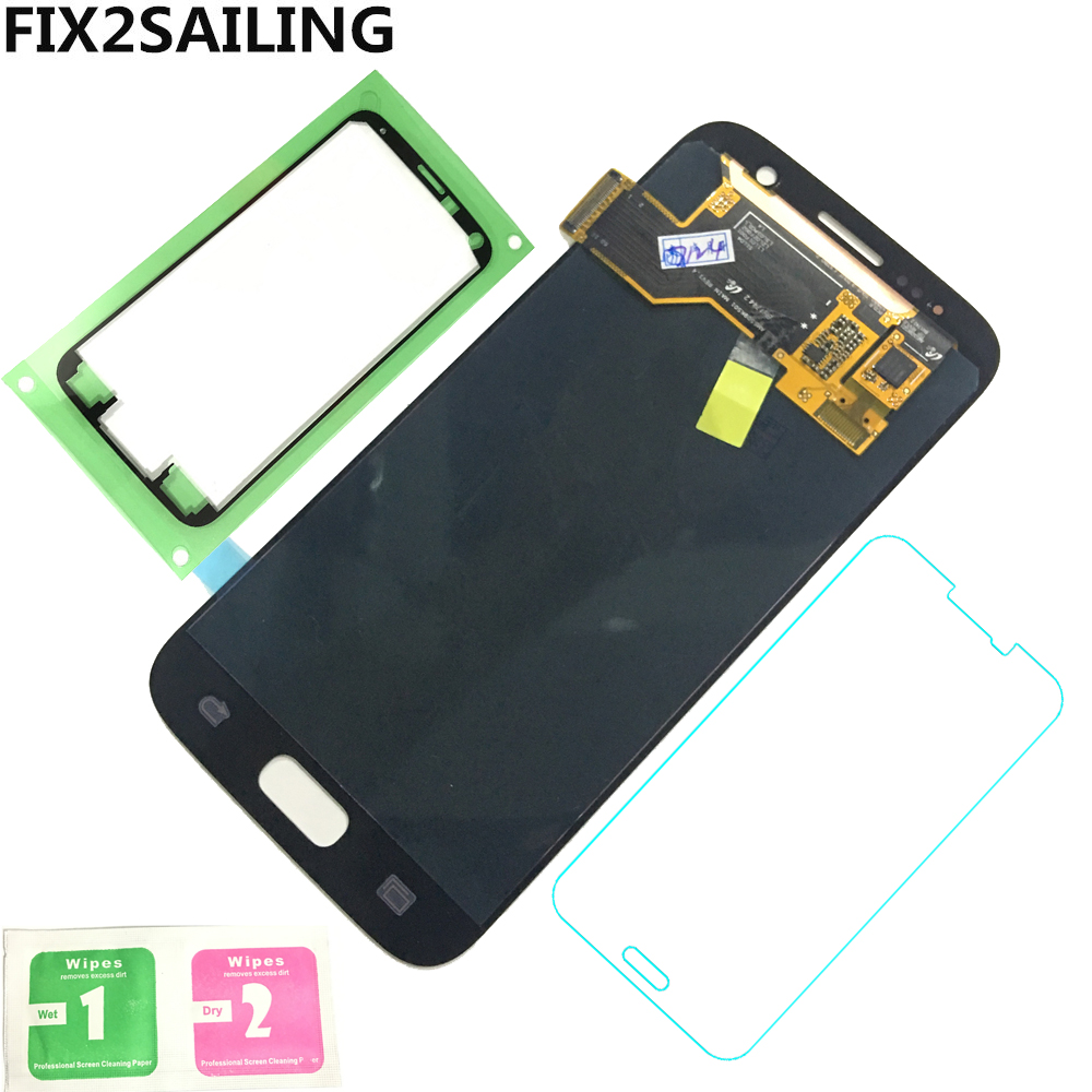 LCD Display AMOLED 100% Tested Working LCD+Touch Screen Digitizer Assembly For Samsung Galaxy S7 G930A G930F SM-G930F Sticker