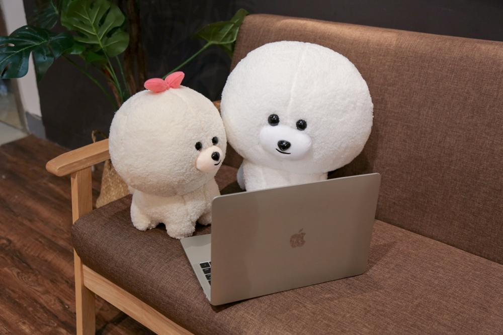 2019 New 30/40cm Bichon Frise Doll Cute Dog Toys Plush Toys Girls Gifts Children Birthday Gifts Christmas Gifts Baby