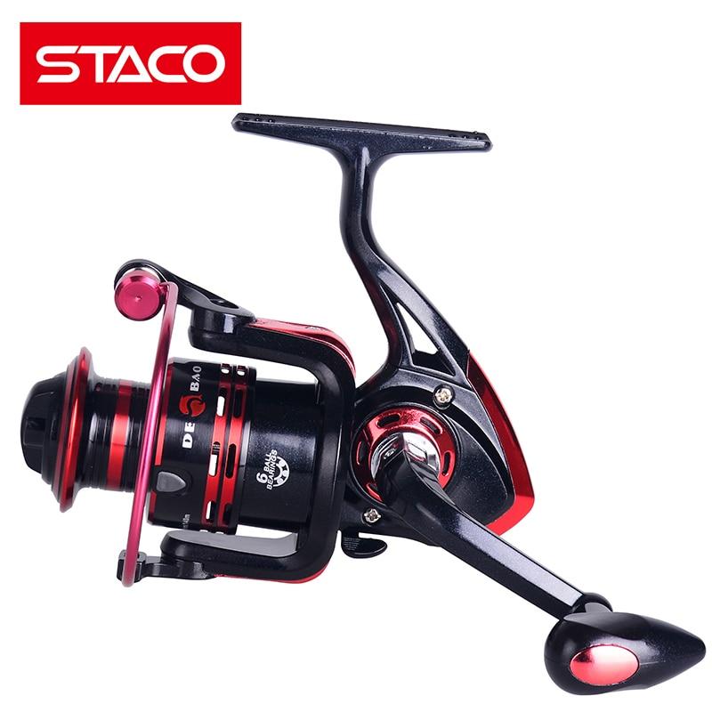 STACO 6BB 5.2:1 Fishing Reels Metal Seat Spinning Fishing Reel 2000 3000 4000 River Lake Reservoir Pond Fake Bait Carp Reel