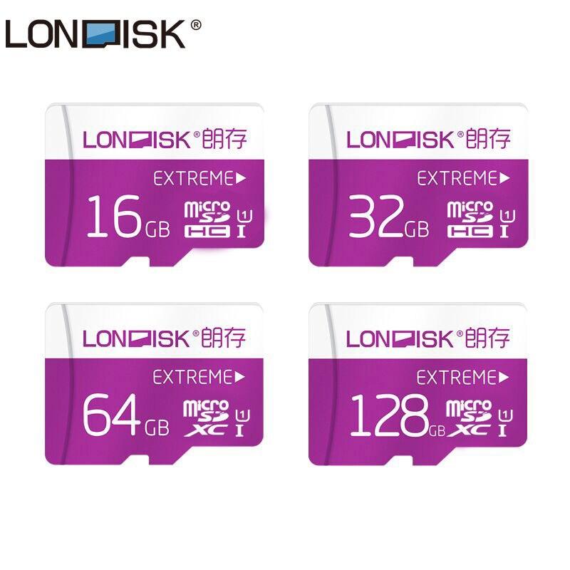 Londisk Micro SD Card 16GB 32GB 64GB 128GB Class10 UHS-1 Memory Card Flash Memory Card Microsd TF Card for Smartphone Pad Camera