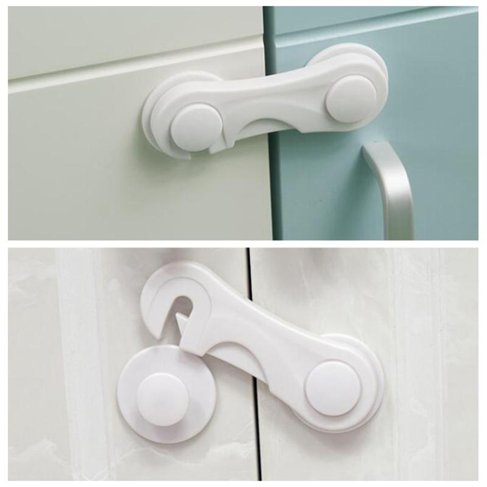 5pcs/lot Multi-function Child Baby Safety Lock Cupboard Cabinet Door Drawer Safety Locks Children Security Protector Baby Care(China)