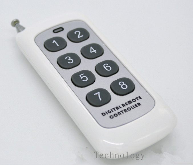 5PCS/lot 8 Key 433M Remote Control/1000 Meters Remote Monitoring Variable Code Remote Control,wireless Remote Control