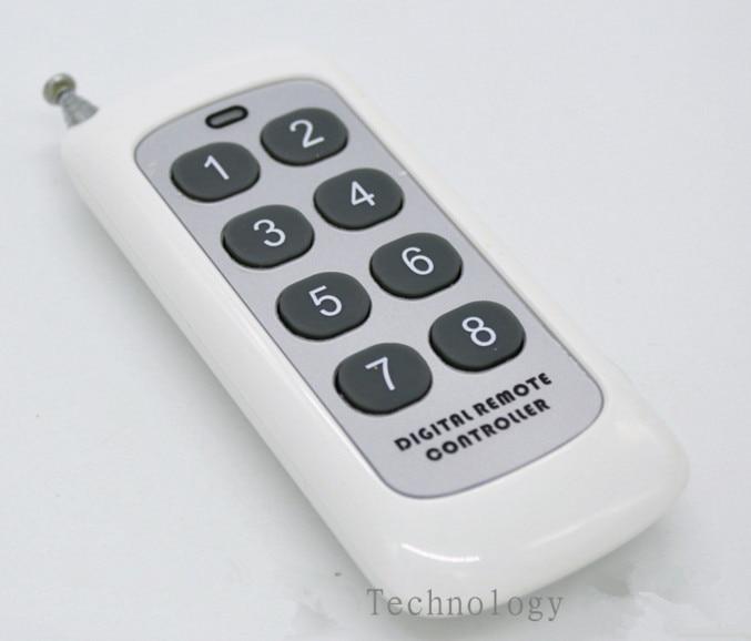 5PCS/lot 8 key 433M remote control/1000 meters remote monitoring variable code remote control,wireless remote control