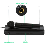 Dual Professional Wireless Microphone with Receiver for BM 800 Karaoke Microphone Party KTV Studio Dropshipping