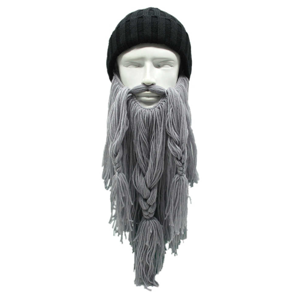 08c8368ff2b Detail Feedback Questions about High Quality Winter Warm Wool Handmade Beanie  Viking Beard Face Mask Crochet Winter Ski Cosplay Prop Caps Funny Hats New  ...