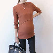 1 PcFashion Pregnancy Breast Feeding Nursing Tops Pregnant Women Nursing Blouse Sweater Breastfeeding Clothing Autumn and Winter
