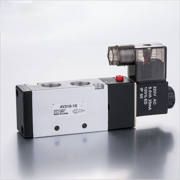 4V310-10 5Ports 2Position Single Solenoid Pneumatic Air Valve 3/8 BSPT AC 220V DC12V,DC24V,AC24V,AC110V dc 12v single head 2 position 5 way 5 pneumatic solenoid valve w base aywvu