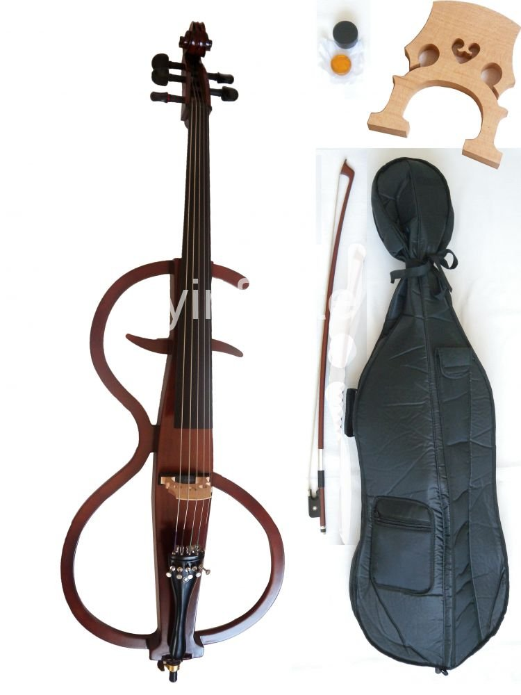 4/4 New 5 string  Electric cello Powerful Sound White Blue Black Yellow solid wood 4 4 5