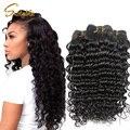 4 pçs/lote peruano queen hair produtos de cabelo cabelo encaracolado peruano onda profunda virgem cabelo peruano weave bundles natural cor 1b