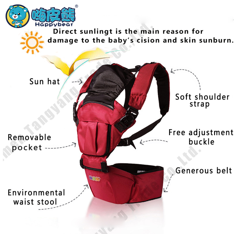 0-36 Months hip seat baby carrier waist stool Manduca Multifunctional 6 in 1 carry style Ergonomic sling Kangaroo Baby HappyBear