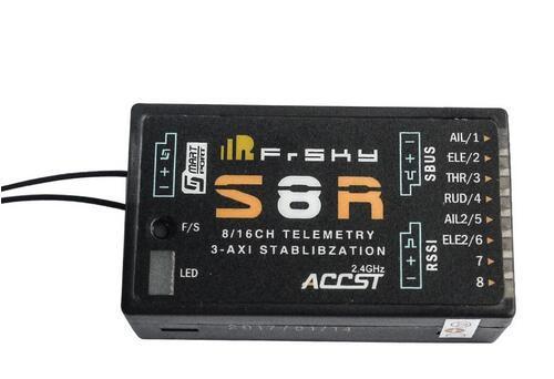 Receptor da telemetria da saída de rssi pwm de stablibzation rssi s8r 16ch 3 axis com porta esperta