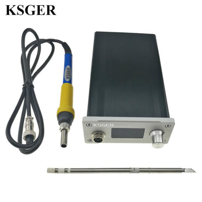 Soldering Station DIY Kit STM32 2.1S OLED 1.3 Display Temperature Controller Digital Electronic Welding Iron T12 Iron Tips цена и фото