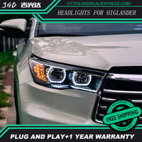 Auto Clud Car Styling For Toyota Higlander Headlights 2015 Head Lamp Led DRL Front Bi Xenon