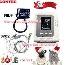 CONTEC Monitor de Pressão Arterial Digital Veterinária Língua Spo2 + PR + NIBP CONTEC08A-VET VENDA QUENTE