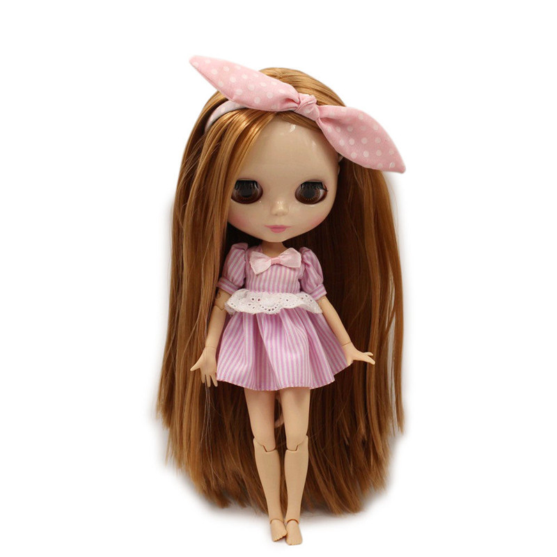 Fortune Days Nude Blyth doll No BL0538 Brown long hair without bangs JOINT body Flesh color
