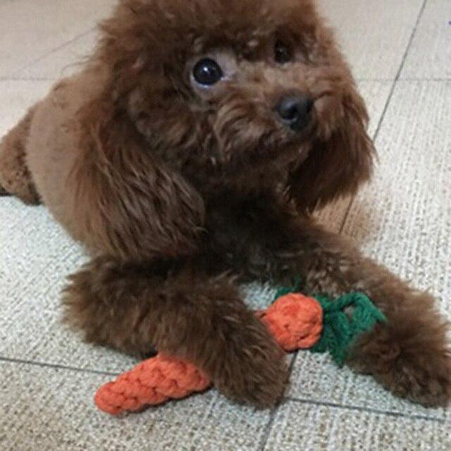 Divertente Pet Toy Carota Pet Giocattolo Del Cane 22 cm Lunga Corda Intrecciata di Cotone Puppy Chew Giocattoli Coniglio Giocattolo