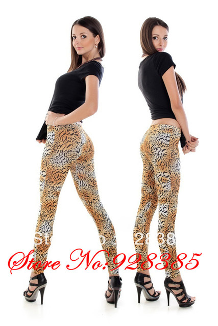 2013 New arrival Sexy Leopard Leggings Seamless Stylish Jeggings Elastic Fashion Free shipping #C9106