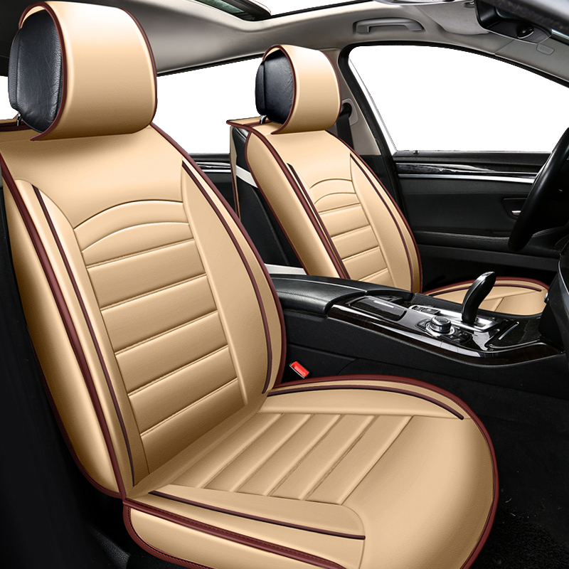 цена KOKOLOLEE Luxury PU Leather Auto Universal Car Seat Covers Automobile seat cover for peugeot 206 for lada kalina car seats