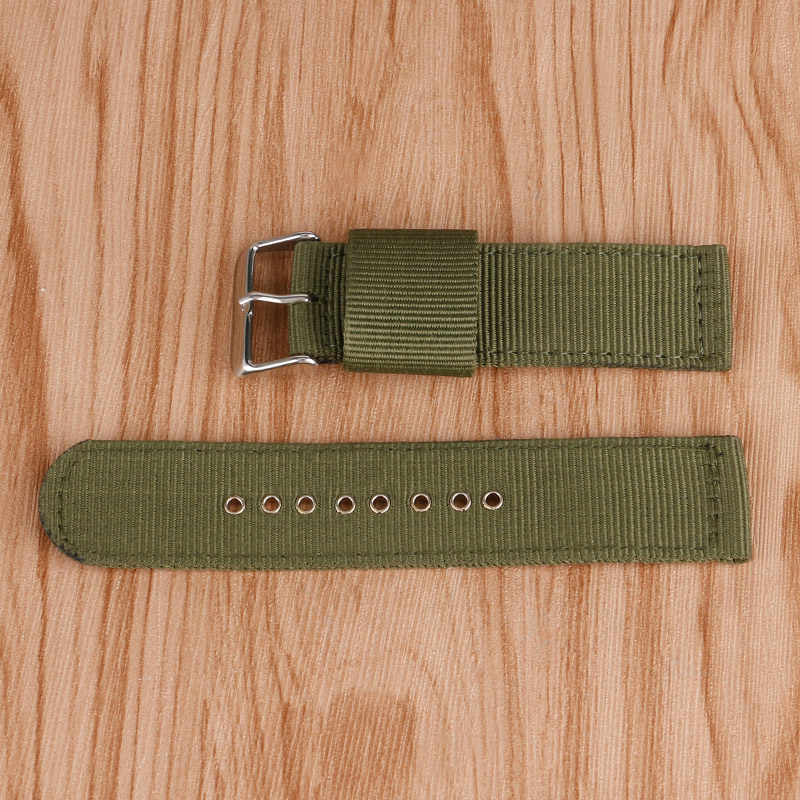 Best Replacement Army Green Watch Strap 20/22/24mm Wrist Band Nylon Fabric Bracelet Soft Pin Buckle Outdoor Watchband best band шорты для мальчика be350129 коричневый best band