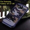 Padrões de camuflagem moda phone case para samsung galaxy 2015 a5 a7 a8 silicone + pc de volta capa protetora mobile phone bag case