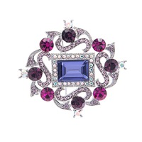 Classic Vintage Design Austrian Rhinestone Crystal Brooch Pin Broach For Woman Jewelry Accessories 53901
