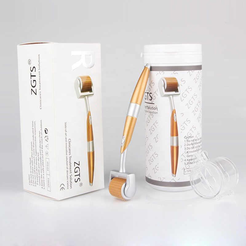 أسطوانة ديرما ZGTS تيتانيوم احترافية 192 إبر للعناية بالوجه وعلاج تساقط الشعر شهادة CE