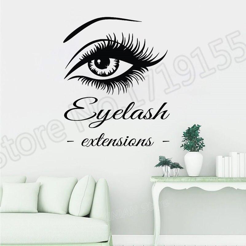 YOYOYU Vinyl Eye Eyelashes Wall Stickers Eyebrows Interior
