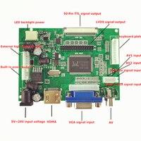 Skylarpu TTL LVDS LCD בקר לוח HDMI VGA 2AV 50PIN עבור AT070TN90 92 94 לוח נהג תמיכה באופן אוטומטי VS-TY2662-V1