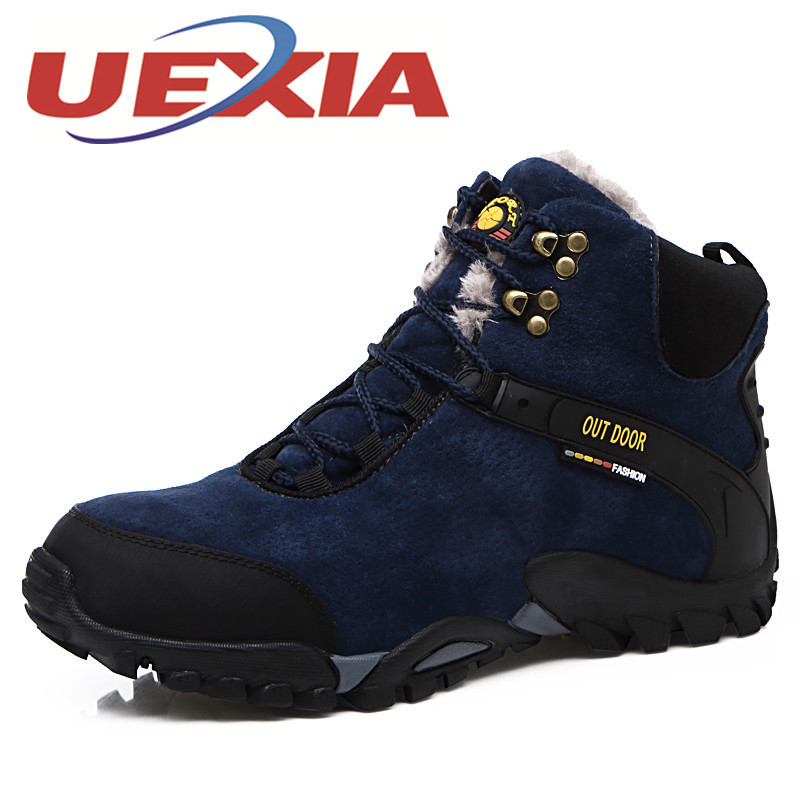 Men'S Casual Shoes Suede Leather Snow Boots Outdoor Warm Shoes Ankle Plush Boots Men Winter Footwear High Top Shoes Botas Hombre  plush casual suede shoes boots mens flat with winter comfortable warm men travel shoes patchwork male zapatos hombre sg083