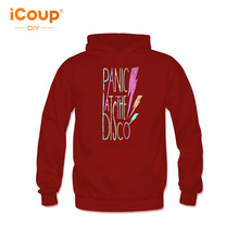 2018 Panic At The Disco Cartoon Letter color pattern jumper Hoodie Unisex