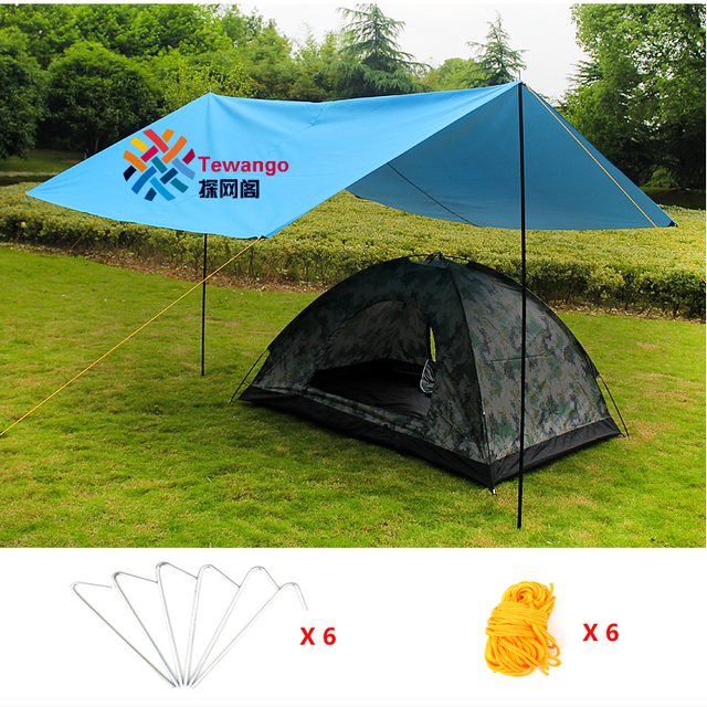 Brand Tewango Sun Shade Sail Shade Tents Outdoor C&ing UV Waterproof Picnic Mat Canopy Awning Sun & Brand Tewango Sun Shade Sail Shade Tents Outdoor Camping UV ...