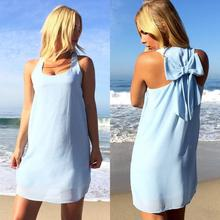 2018 Summer Kleid Neue Frauen Casual Mint Green Chiffon Sommer Stil Zur Ü Sleeveless Beach Dress