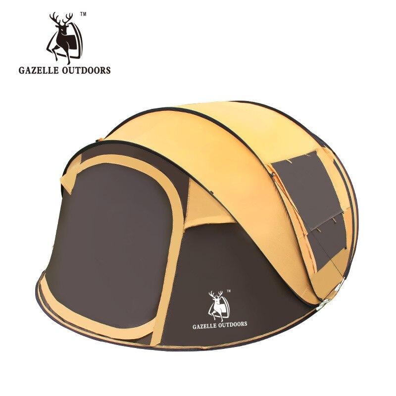 Tentes automatiques extérieures 3-4 personnes jettent la tente ouverte de vitesse sautent imperméable coupe-vent pour la tente de Camping grandes tentes de famille