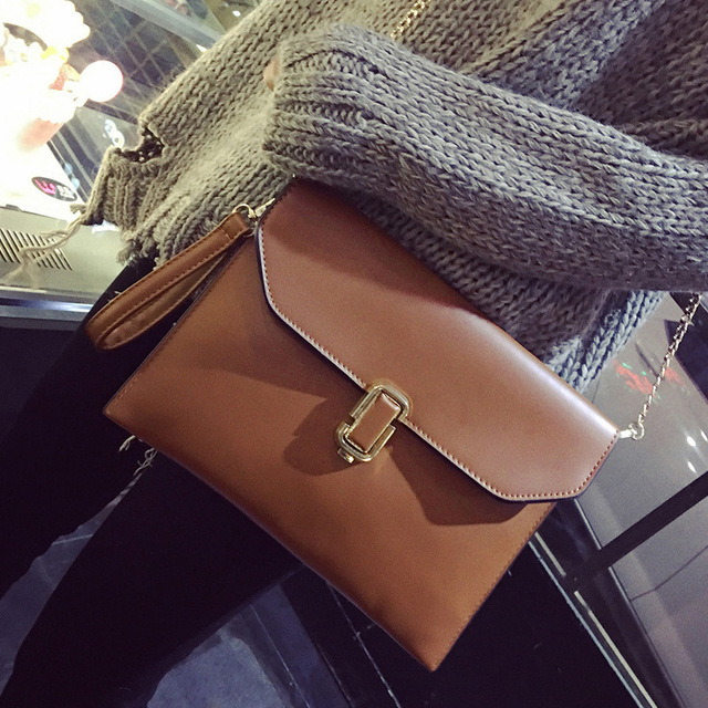 Women Bag Handbags Letter Sequined Lock Solid PU Leather Envelope Cover Day Clutches Bolsos Mujer Bolsa Feminina Sac A Main