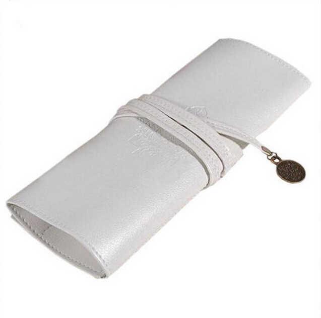 1 قطعة قلم رصاص المدرسة الساخن يشكلون حقيبة مستحضرات التجميل مجموعة Vintage أقلام ماكياج فرش امرأة مدرسة بولي leather حقيبة جلدية 6 اللون