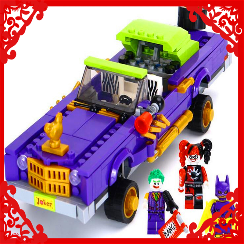 LEPIN 07046 Batman Series The Joker Notorious 463Pcs Building Block DIY Educational  Toys For Children Compatible Legoe lepin 07045 batman series racing car building block 559pcs diy educational toys for children compatible legoe