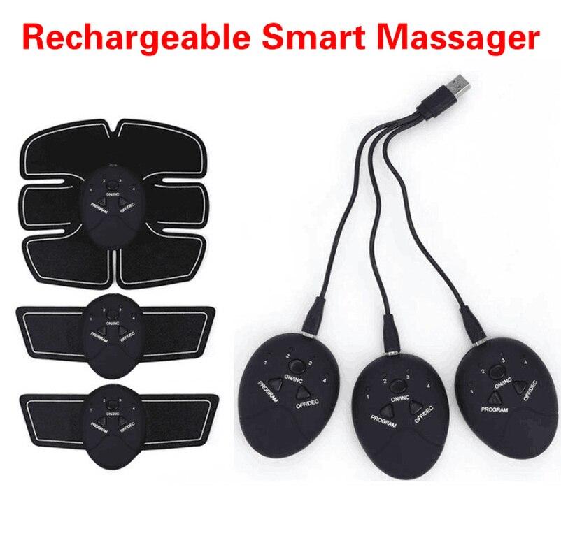 Recarregável Inteligente EMS Estimulador Muscular Elétrica Abdominal Exercitador Dispositivo Perda de Peso Slimming Massager Formação