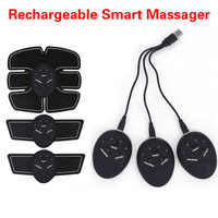 Rechargeable Smart EMS Electric Abdominal Muscle Stimulator Exerciser Device Loss Weight Slimming Training Massager