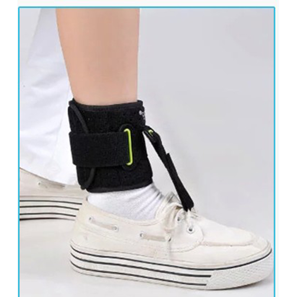 1 Pair Unisex Black Foot Up Drop Night Brace Orthotic Plantar Fasciitis Support Strap Arthrodesis Achilles Tendon Wrap Band