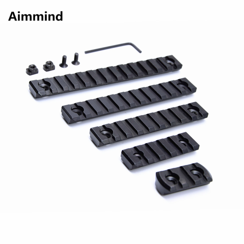 High Quality 3 5 9 11 13 Slots MLOK m-lok Rail Base Handguard Section ar15 M4 Handguard Aluminum Picatinny Weaver for Hunting(China)
