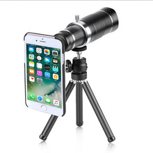 Universal 20X  Monocular Zoom Telescope Lens Mobile Phone Telephoto Lens External Phone Camera Lens for Smartphones With Tripod цена