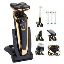 5D электробритва влажная сухая машина для бритья лица перезаряжаемая электрическая бритва для бороды для мужчин многофункциональный набор