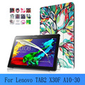 "PU leather Case Tab2 A10-30 Leather cover case for lenovo tab 2 X30F a10-30 10.1"" tablet+screen protector+stylus"