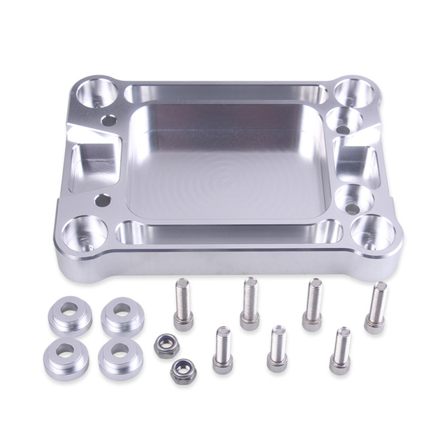 Adapter Motor With Screw Gear Lever Base Aluminum Accessories Shifter Box Plate Rustproof Practical Modified For Honda For Civic