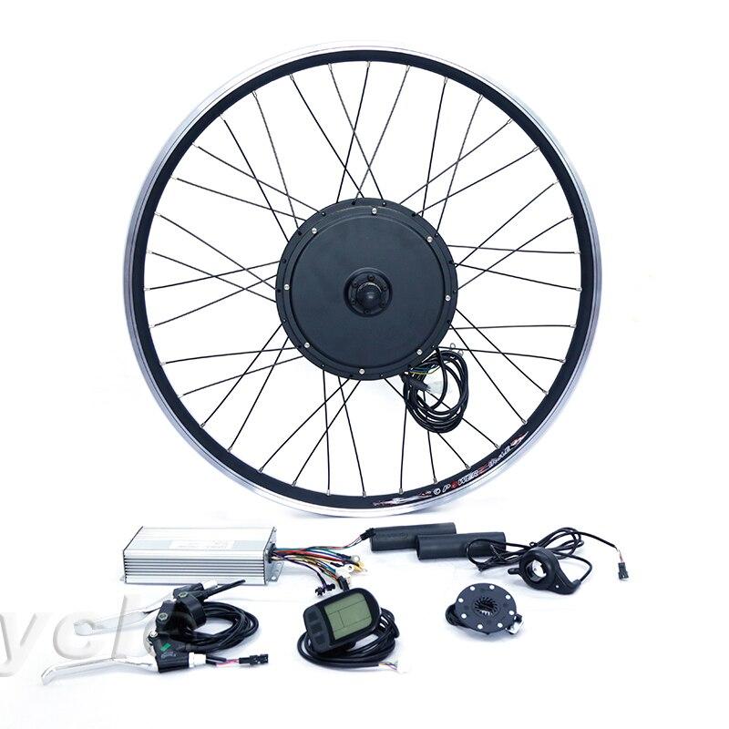 Moteur avant ou arrière 55 km/h roue moteur 48 v 1000 w e kit de conversion de vélo pour vélo 20