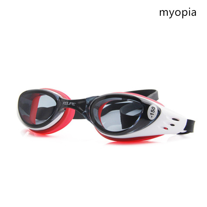 Swim Goggles Diopter Myopia -1.5 To -10 Swimming Pool Anti-fog HD 100% silicone Diving Glasses Kids With Box
